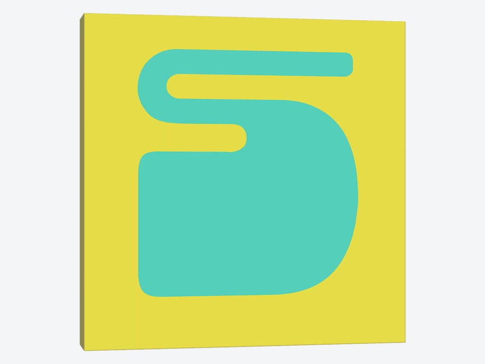 S by Naxart 1-piece Canvas Wall Art