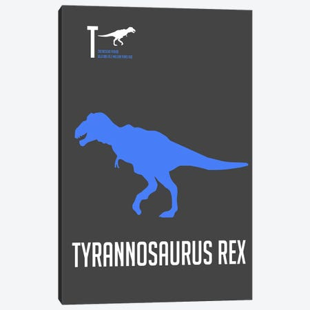 Tyrannosaurus Rex Canvas Print #NAX495} by Naxart Canvas Art Print