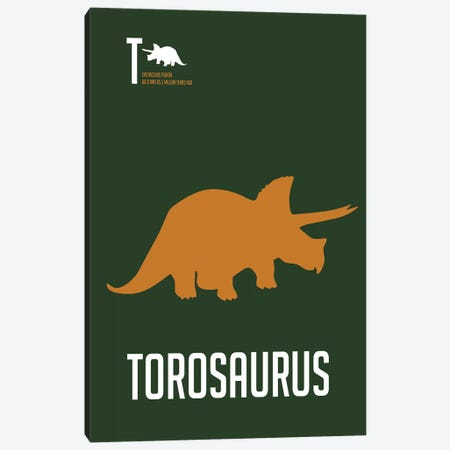 Torosaurus Canvas Print #NAX496} by Naxart Art Print