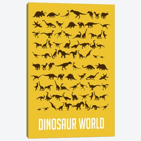 Dinosaur World I Canvas Print #NAX497} by Naxart Art Print