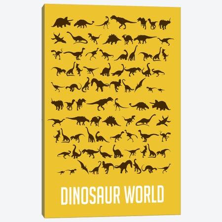 Dinosaur World I Canvas Print #NAX497} by Naxart Art Print