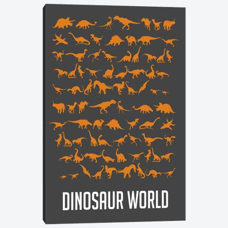 Dinosaur World II Canvas Print #NAX498} by Naxart Canvas Artwork