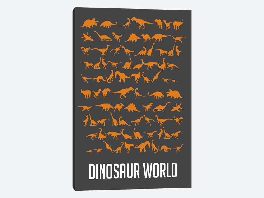 Dinosaur World II by Naxart 1-piece Canvas Wall Art