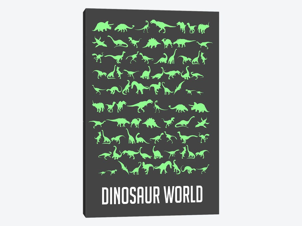 Dinosaur World III by Naxart 1-piece Canvas Art Print