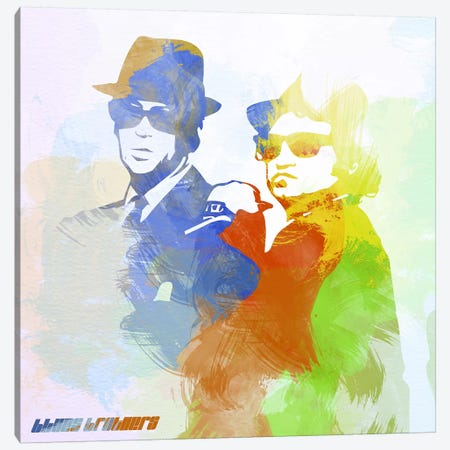 Blues Brothers Canvas Print #NAX4} by Naxart Canvas Art Print