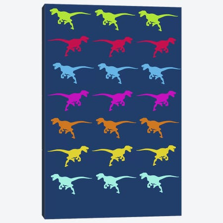 T-Rex Pattern Canvas Print #NAX500} by Naxart Canvas Artwork