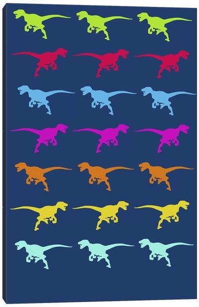 T-Rex Pattern Canvas Print #NAX500