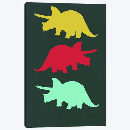 Torosaurus Triplets Canvas Print #NAX501} by Naxart Canvas Artwork