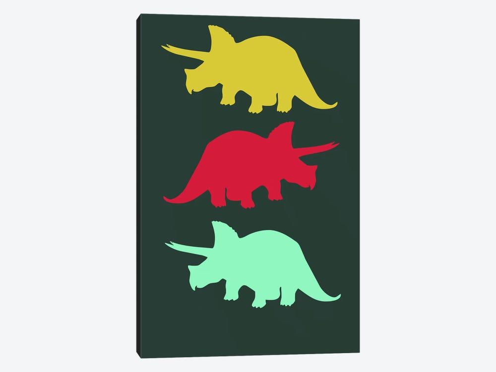 Torosaurus Triplets by Naxart 1-piece Canvas Art Print