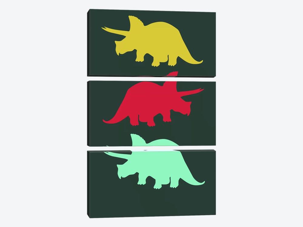 Torosaurus Triplets by Naxart 3-piece Canvas Print