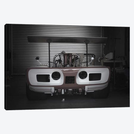 Racing Garage Canvas Print #NAX508} by Naxart Canvas Wall Art