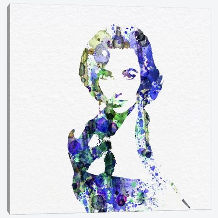 Elizabeth Taylor Canvas Print #NAX67} by Naxart Canvas Art