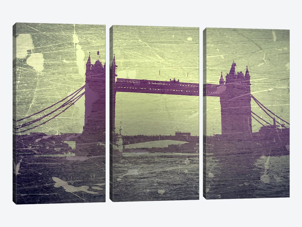 Tower Bridge London by Naxart 3-piece Canvas Wall Art