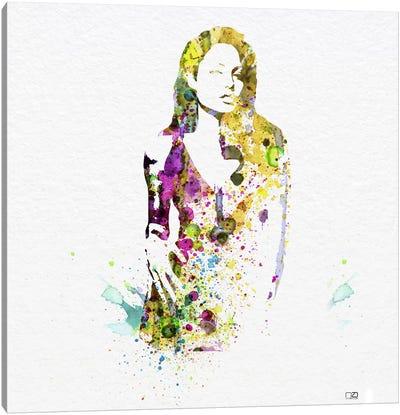 Angelina Jolie II Canvas Print #NAX78