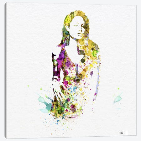 Angelina Jolie II Canvas Print #NAX78} by Naxart Canvas Wall Art