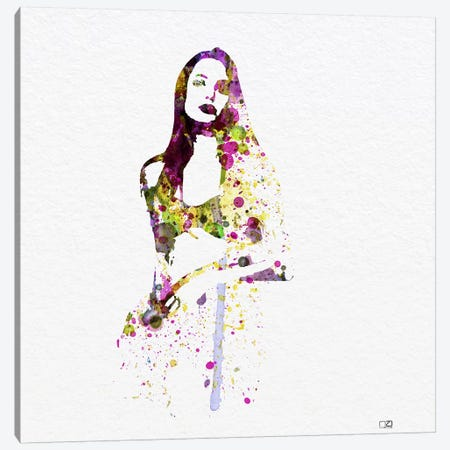 Angelina Jolie III Canvas Print #NAX79} by Naxart Canvas Artwork