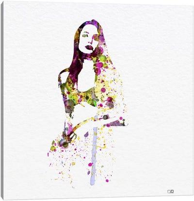 Angelina Jolie III Canvas Print #NAX79