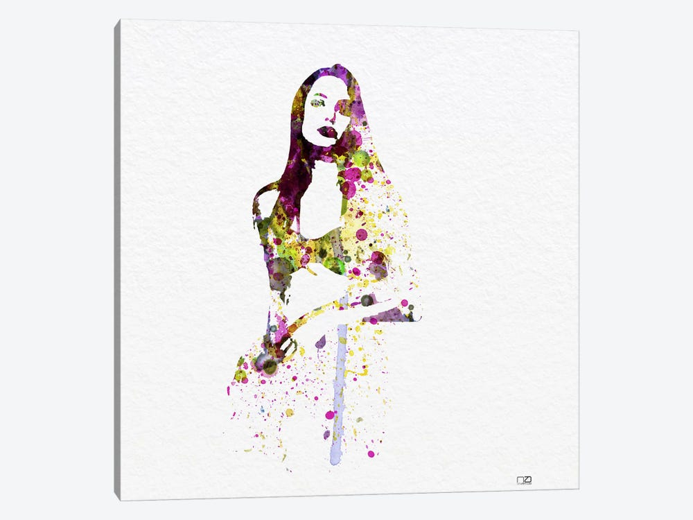Angelina Jolie III by Naxart 1-piece Canvas Art Print