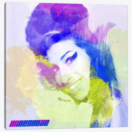 Amy Winehouse I Canvas Print #NAX7} by Naxart Canvas Print