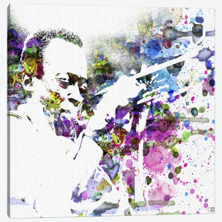Miles Davis Canvas Print #NAX85} by Naxart Canvas Wall Art