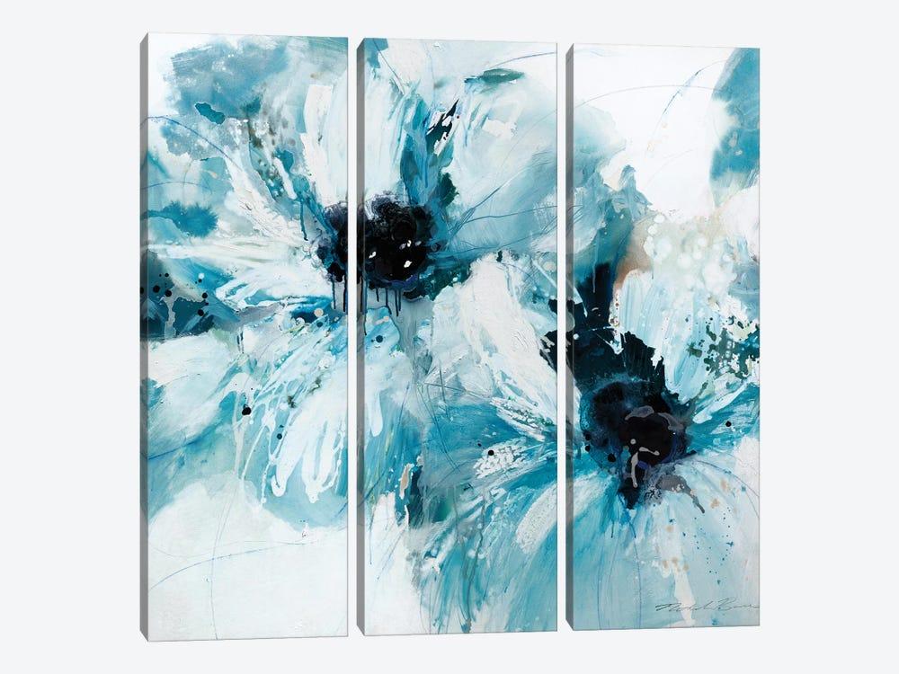 Blue Crush I by Natasha Barnes 3-piece Canvas Print