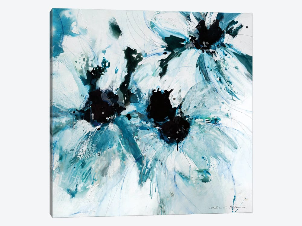Blue Crush II by Natasha Barnes 1-piece Canvas Artwork