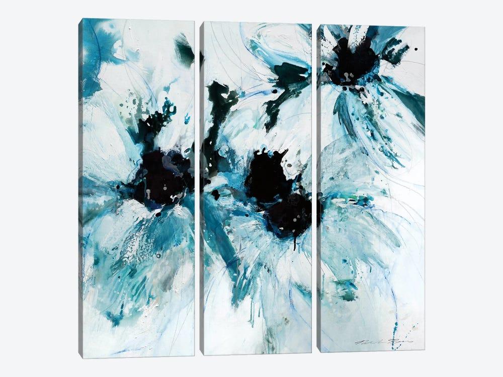 Blue Crush II by Natasha Barnes 3-piece Canvas Artwork