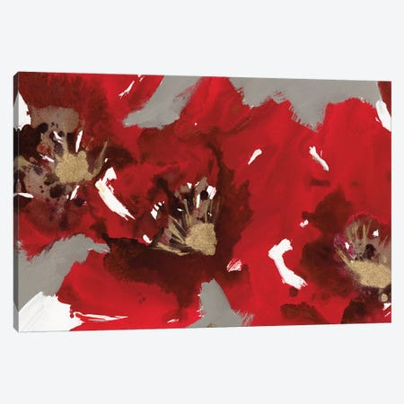 Red Poppy Forest I Canvas Print #NBA16} by Natasha Barnes Canvas Wall Art