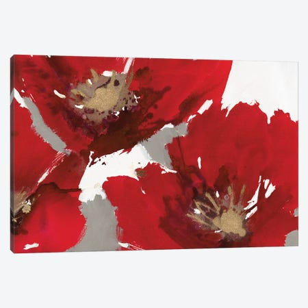 Red Poppy Forest II Canvas Print #NBA17} by Natasha Barnes Canvas Artwork