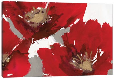Red Poppy Forest II Canvas Art Print