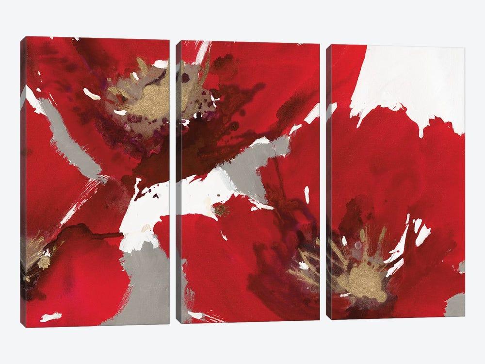 Red Poppy Forest II by Natasha Barnes 3-piece Canvas Artwork