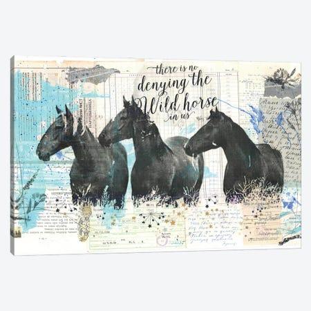 Wild Horses Canvas Print #NBD11} by Nora Bland Canvas Art