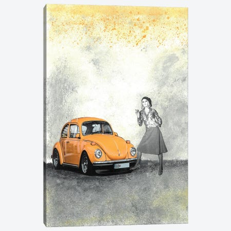 Just A Cigarette Break Canvas Print #NBD14} by Nora Bland Canvas Print