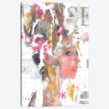 She's Not Just A Pretty Face Canvas Print #NBD15} by Nora Bland Art Print