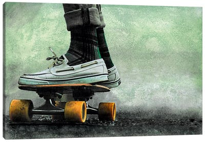 Skateboard Canvas Art Print