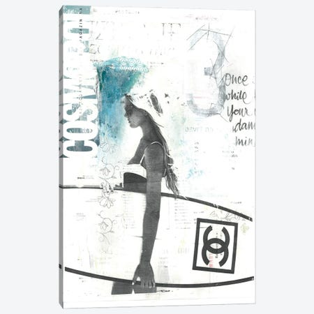 Surfing Girl Canvas Print #NBD19} by Nora Bland Canvas Art
