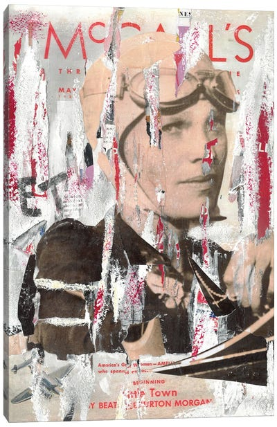Amelia Earhart Canvas Art Print