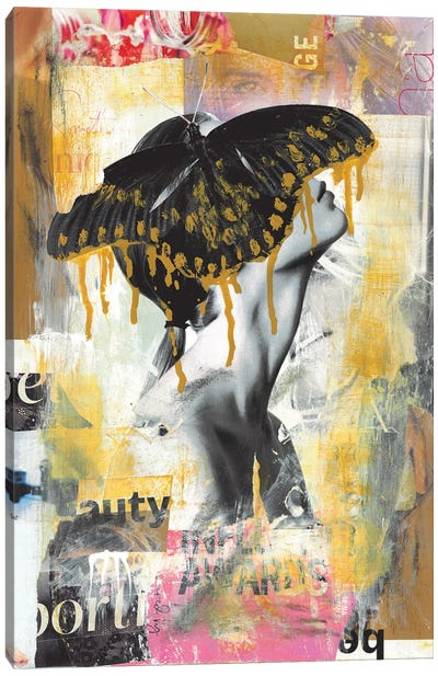 Butterfly Girl Canvas Art Print