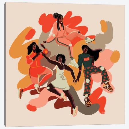 Circle Canvas Print #NBG25} by Niege Borges Art Print