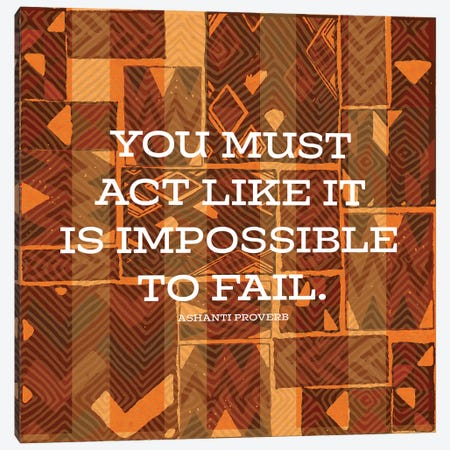 Impossible To Fail Canvas Print #NBI19} by Nicholas Biscardi Art Print