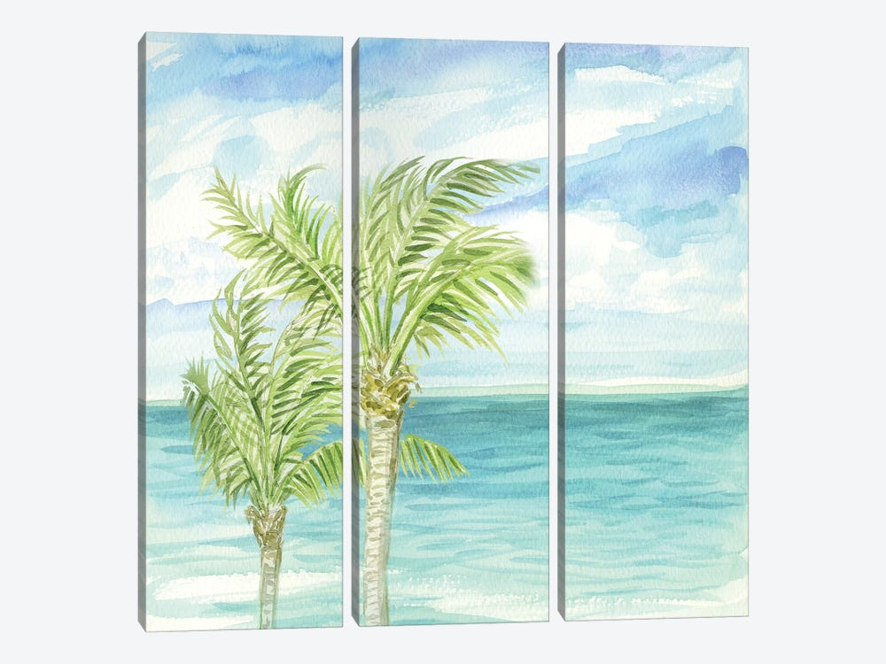 Refreshing Coastal Breeze I by Nicholas Biscardi 3-piece Art Print