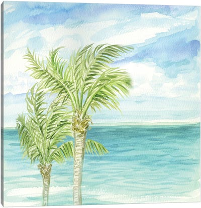 Refreshing Coastal Breeze I Canvas Art Print