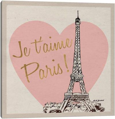 Je T'Aime Paris! Canvas Art Print