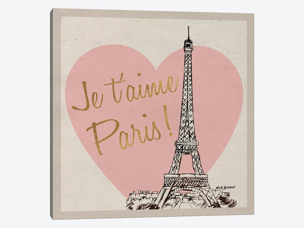 Je T'Aime Paris! by Nicholas Biscardi 1-piece Art Print