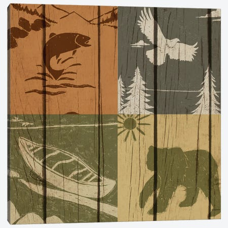 Lodge Four Pack I Canvas Print #NBI25} by Nicholas Biscardi Canvas Art Print