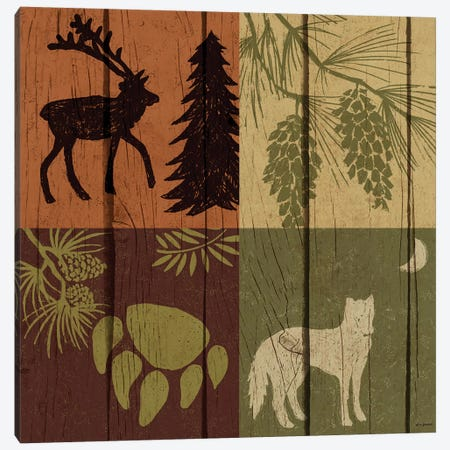 Lodge Four Pack II Canvas Print #NBI26} by Nicholas Biscardi Art Print