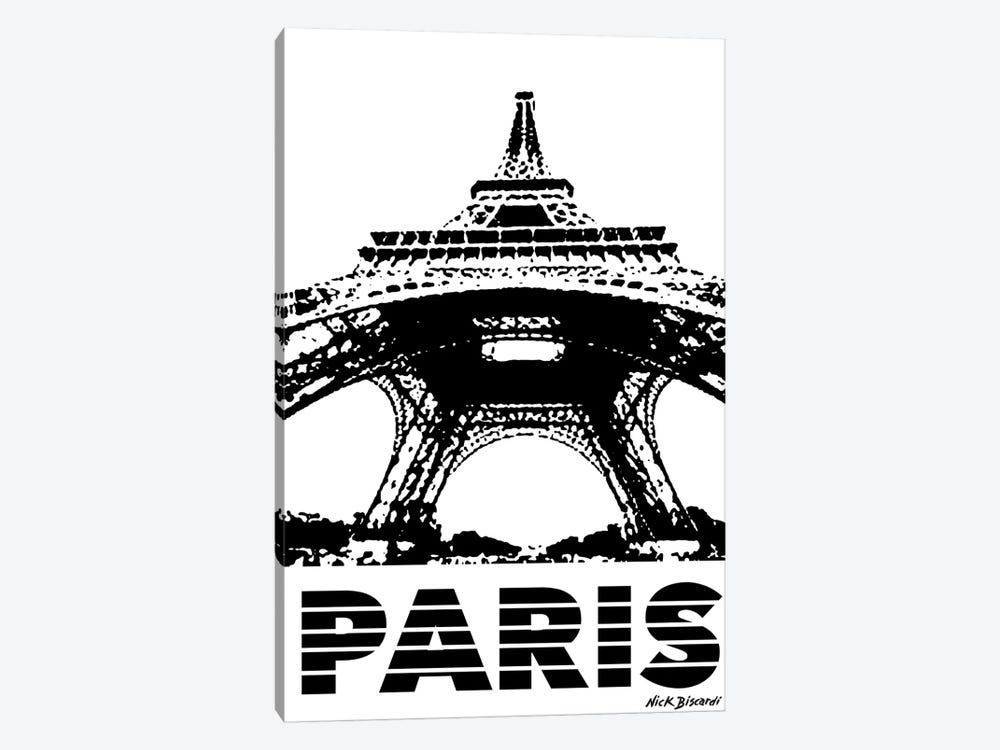 Modern Paris I by Nicholas Biscardi 1-piece Canvas Print