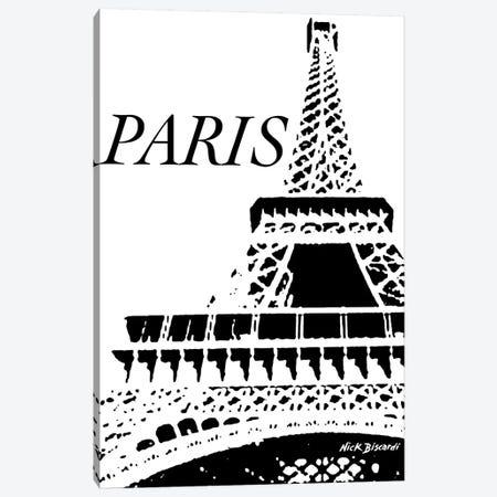 Modern Paris II Canvas Print #NBI29} by Nicholas Biscardi Canvas Wall Art