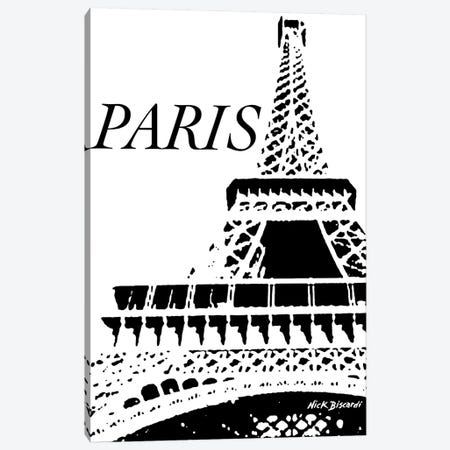 Modern Paris II Canvas Print #NBI29} by Nicholas Biscardi Canvas Wall Art
