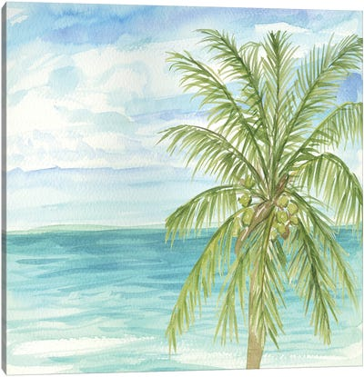 Refreshing Coastal Breeze II Canvas Art Print
